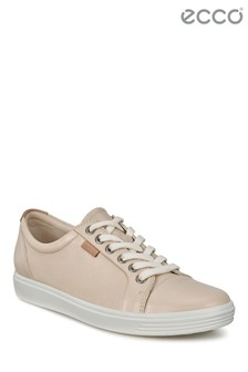 Ecco Natural Lace-Up Sneaker