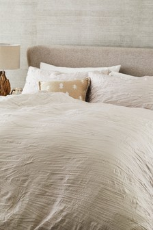 Simply Soft Crinkle Duvet Cover And Pillowcase Set