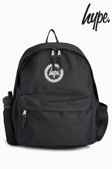 Hype. Black Water Bottle Backpack