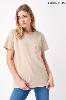 Calvin Klein Pink Pocket Detail T-Shirt