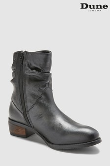 Dune Black Pagerss Slouch Ankle Boot