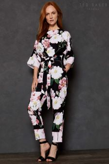 Ted Baker Black NEPTONE Kimono Sleeve Jumpsuit