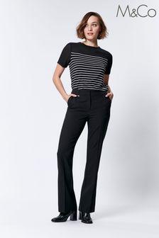 M&Co Black Bootcut Trousers