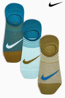 Nike Ladies Multi Footie Sock Three Pack