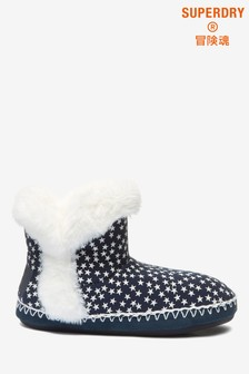 Superdry Navy Slipper Boots