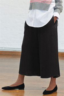Черные брюки-кюлоты с драпировкой French Connection Ellesmere