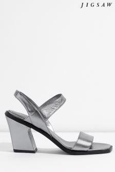 Jigsaw Silver Eze Dressy Block Heel