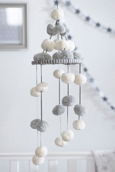 Knitted Pom Hanging Decoration