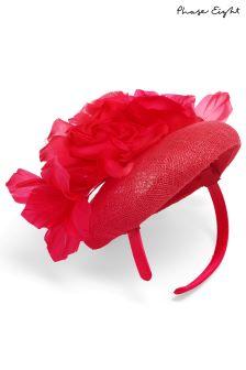 Phase Eight Raspberry Chelsey Flower Pillbox Fascinator
