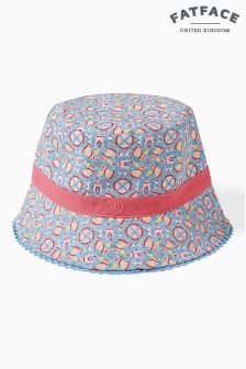 FatFace Ecru Rock Print Bucket Hat