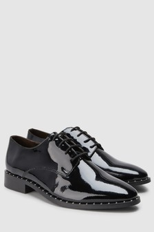 Signature Comfort Studded Leather Lace-Ups