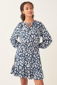 Shirred Waist Mini Dress