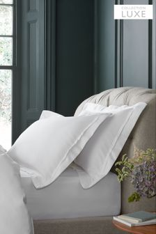 Set of 2 1000 Thread Count 100% Cotton Sateen Collection Luxe Pillowcases