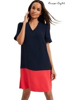 Phase Eight Blue Jodie Colourblock Dress