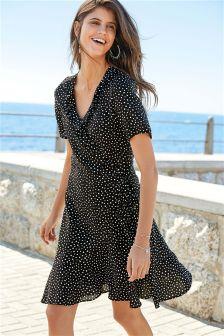 Wrap Spot Dress
