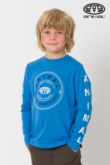 Animal Blue Stamp Long Sleeve Tee