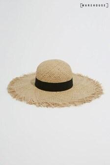 Warehouse Brown Frayed Edge Hat