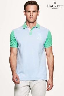 Hackett Blue Archive 1234 Short Sleeve Polo