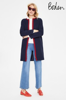 Boden Blue Eadie Textured Coat
