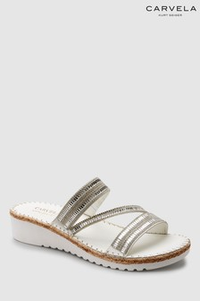 Carvela Comfort White Leather Sula Sandal