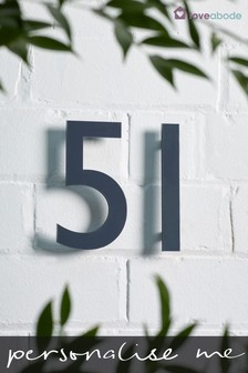 Personalised Double Number Acrylic House Sign by Loveabode
