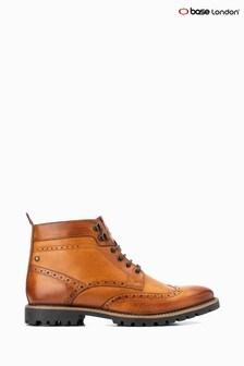 Base London® Tan Bower Lace-Up Brogue Boots
