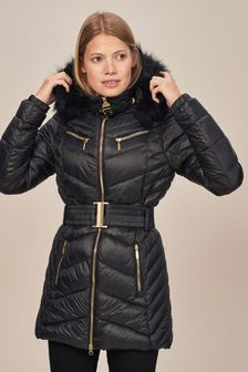 Barbour® International Grand Black Quilted Coat