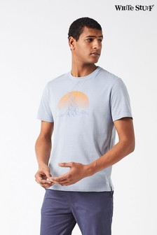 White Stuff Grey Flock Of Birds Graphic Tee