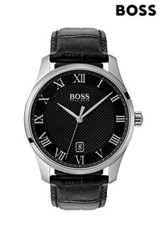 BOSS Master Leather Strap Watch