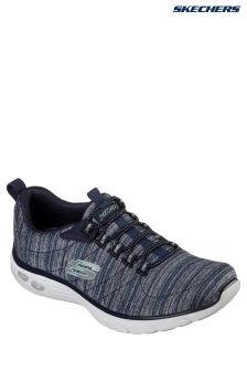 Skechers® Blue Heathered Mesh Bungee Slip-On With Air Cooled Memory Foam