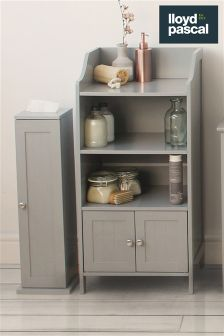 Lloyd Pascal Grey Painted Floor Cabinet