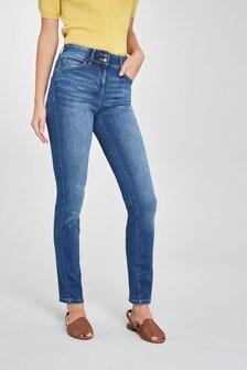 Моделирующие джинсы зауженного кроя Luxe