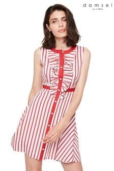 Damsel In A Dress Red Pascal Stripe Dress