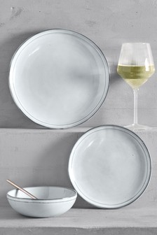 12 Piece Country Luxe Dinner Set & Buy Homeware tableware Blue from the Next UK online shop