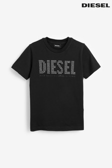 Diesel® Kids Black Studded T-Shirt