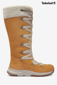Timberland® Tan Wheat Tall Lace-Up Boots