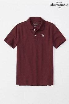 Abercrombie & Fitch Burgundy Basic Poloshirt