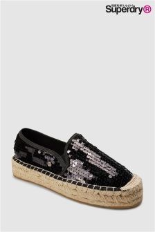 Superdry Black Sequin Espadrille