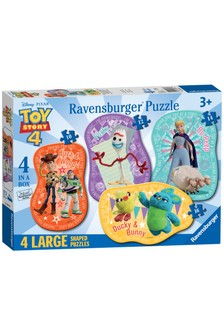 Ravensburger Disney™ Toy Story 4, 4 Large Shaped Jigsaw Puzzle