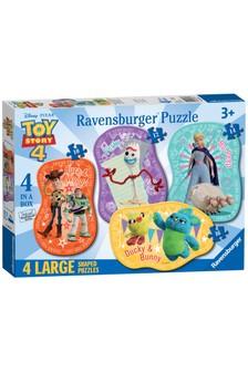 Ravensburger Disney™ Toy Story 4, 4 Large Shaped Jigsaw Puzzle