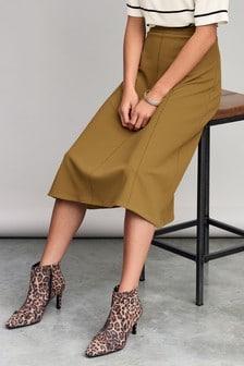 Contrast Stitch Jersey Skirt