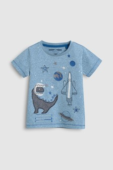 Short Sleeve Appliqué Dino T-Shirt (3mths-6yrs)