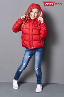 Levi's® Kids Red Bianca Quilted Jacket