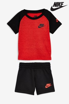 Nike Little Kids Red/Black Logo Set