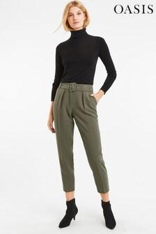 Oasis Green Peg Trouser