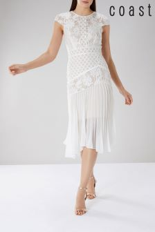 Coast White Wendy Lace Shift Dress