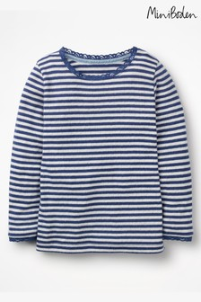 Boden Navy Supersoft Pointelle T-Shirt