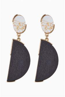 Marble Effect Drop Earrings