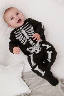Skeleton Sleepsuit (0-18mths)