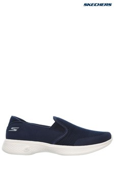 Skechers® Blue Go Walk 4 Attuned Navy Twin Gore Slip-On